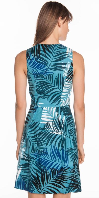 Dresses | Teal Palm Floral Dress