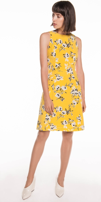 Dresses | Citrus Floral Viscose Dress