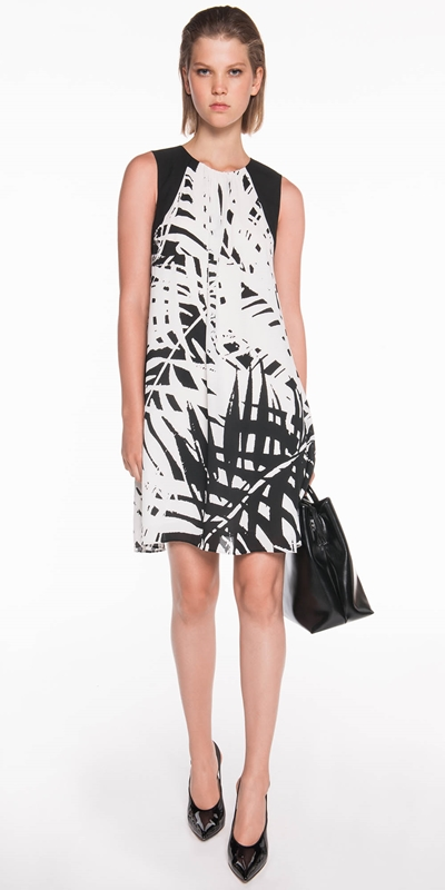 Dresses | Palm Print Georgette Dress