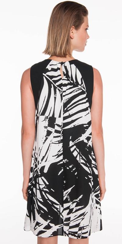 Dresses | Palm Print Georgette Dress