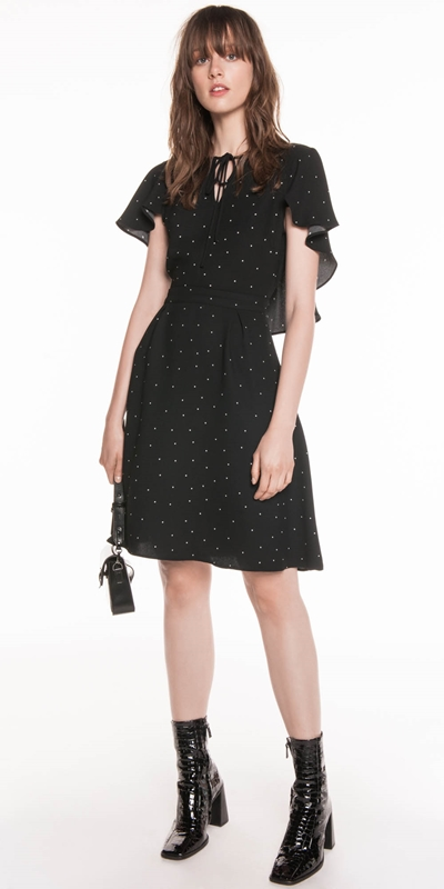 Dresses  | Scattered Polka Crepe Dress