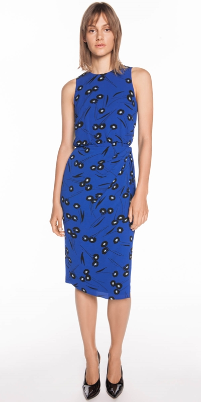 Wear to Work  | Abstract Daisy Wrap Dress