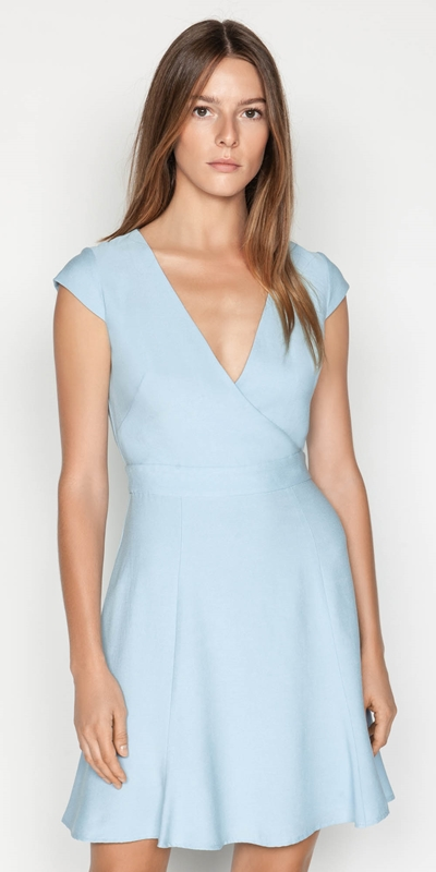 Sale  | Faille Wrap Front Dress