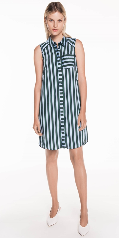Sale | Coloured Stripe Shirt Dress
