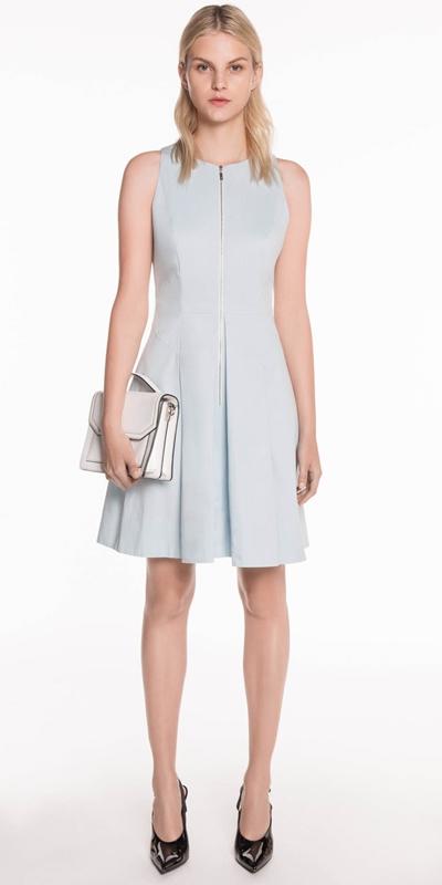 Sale | Cotton Twill Tuck Detail Dress