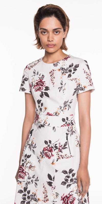 Sale  | Floral Ottoman Wrap Front Dress