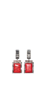 Accessories | Jewelled Block Resin Earrings