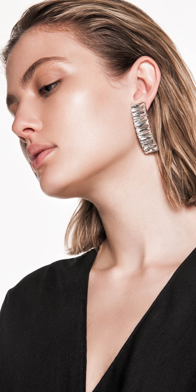 The Party Edit  | Jewelled Block Earrings
