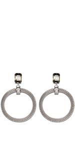 Accessories   Jewelled Mesh Chain Earrings