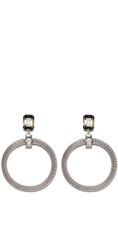 Accessories | Jewelled Mesh Chain Earrings