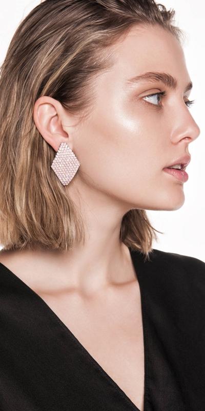 Accessories  | Diamante Geometric Earrings
