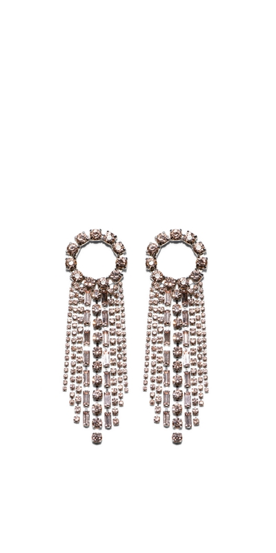 Sale | Diamante Circle and Chain Earrings