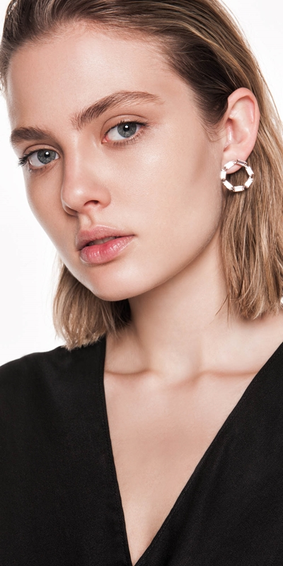 Accessories | Jewelled Circle Earrings