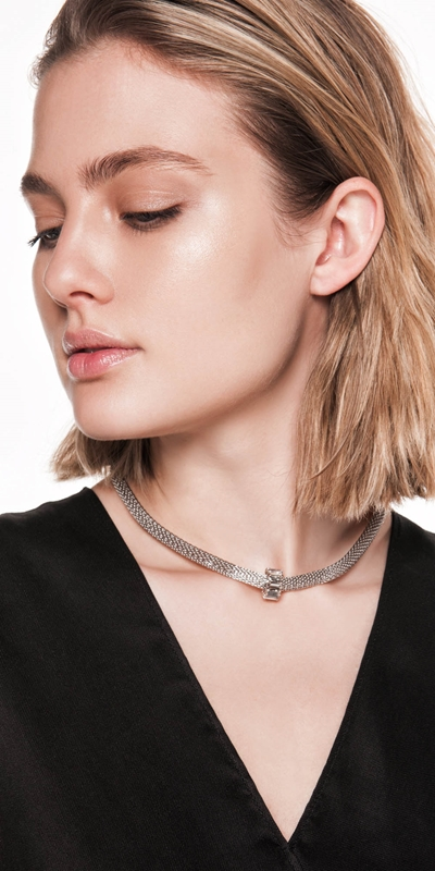 Sale  | Jewelled Mesh Chain Choker