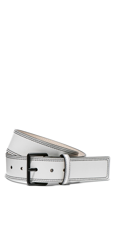 Accessories | Leather Topstitched Belt