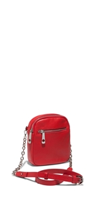 Accessories | Red Chain Shoulder Bag