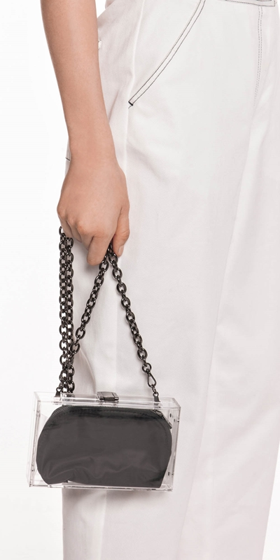 The Party Edit  | Transparent Box Bag