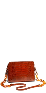 Accessories | Caramel Croc Cross Body Bag