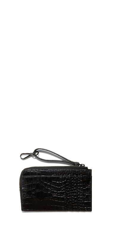 Accessories  | Black Croc Card Holder