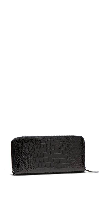 Accessories | Black Croc Wallet