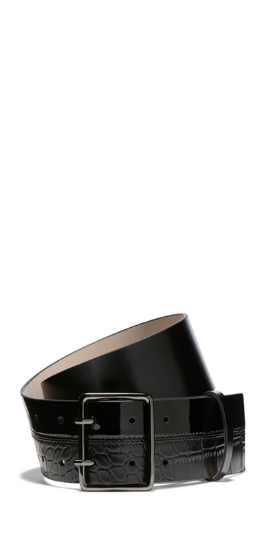 Accessories | Spliced Croc Leather Belt