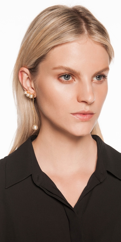 Accessories  | Pearl and Chain Ear Cuff