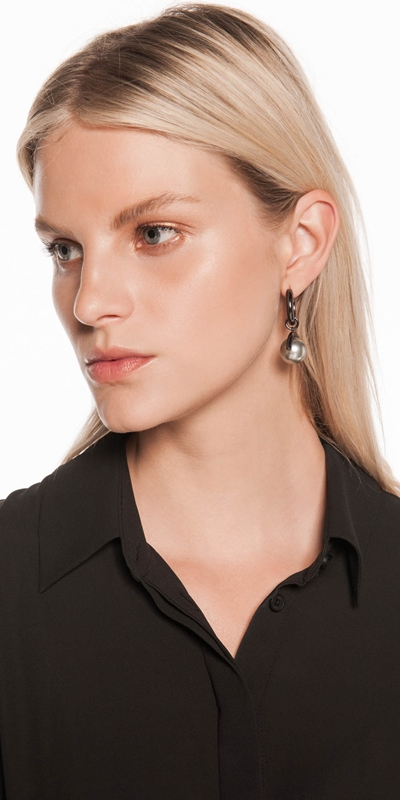 Accessories | Pearl Hoop Earrings