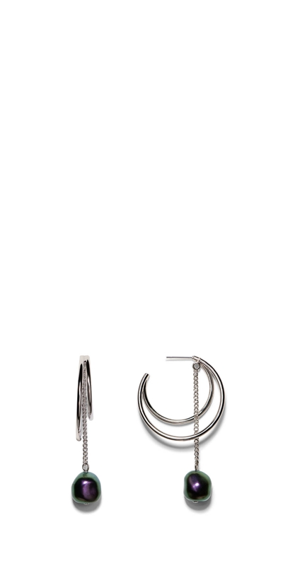 Accessories | Pearl Hoop Earring