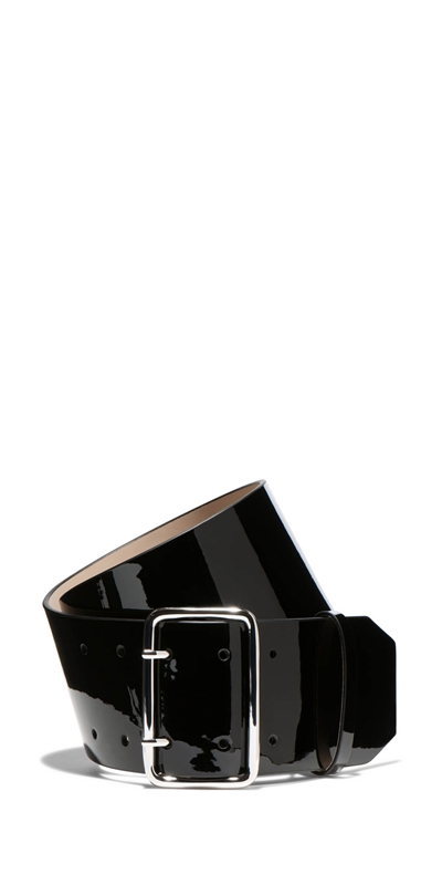 Accessories | Patent Leather Wide Belt