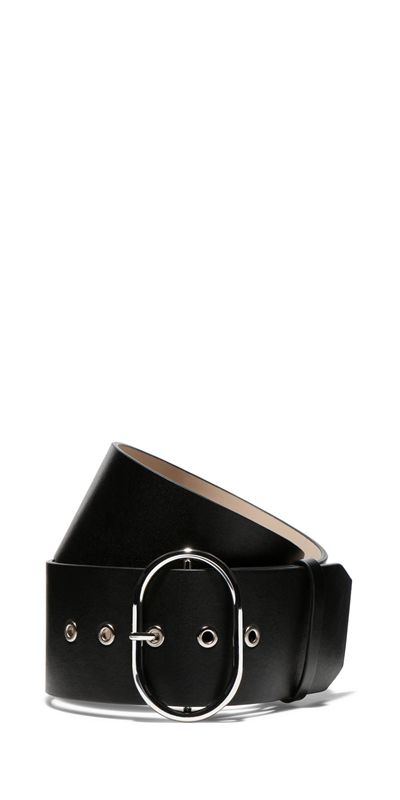 Accessories | Leather Oval Buckle Belt