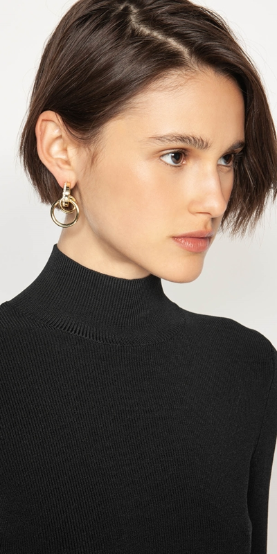 Accessories  | Gold Multi-chain Earrings