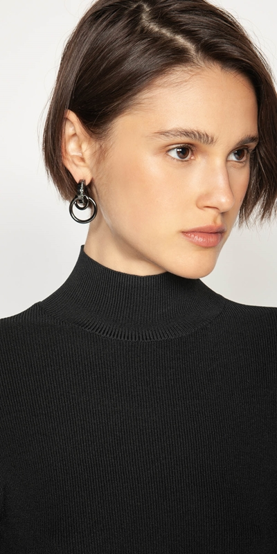 Accessories  | Gunmetal Multi-chain Earrings