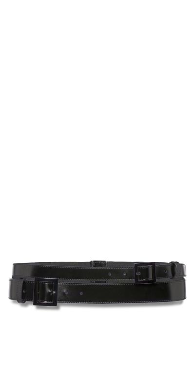 Sale | Leather Double Buckle Belt