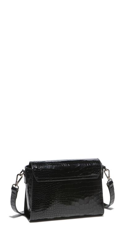 Accessories | Black Croc Crossbody Bag
