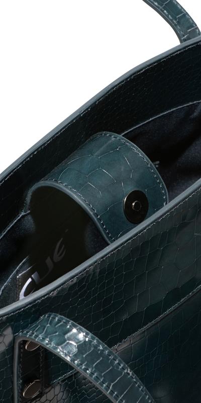 Accessories | Dark Teal Croc Tote Bag