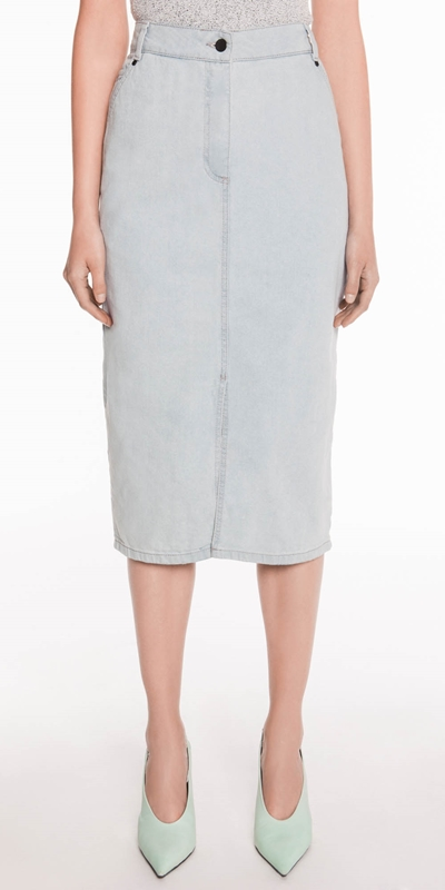 Skirts  | Denim Pencil Skirt
