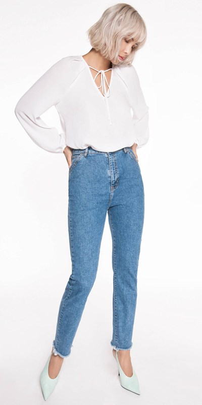 Pants | High Waisted Slim Leg Jean