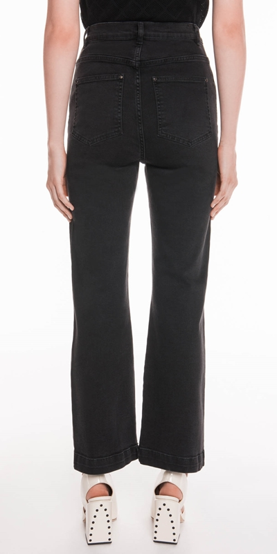 Pants | High Waisted Cropped Straight Leg Jean