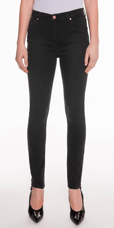 Pants  | Mid Rise Waist Skinny Leg Jeans