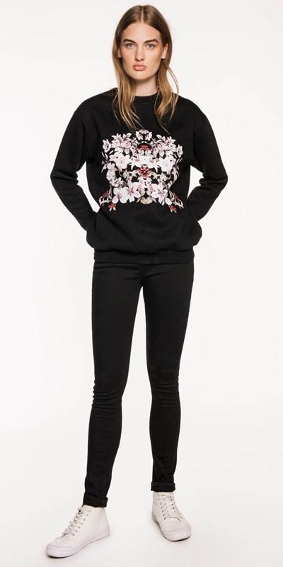 Sale | Printed Floral Sweatshirt