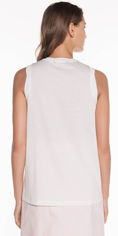 Tops | Palm Embroidered Tank