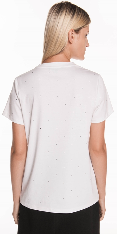 Tops | Crystal Embellished Tee