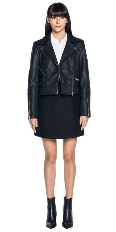 70b335ec748 Zip Front Leather Jacket