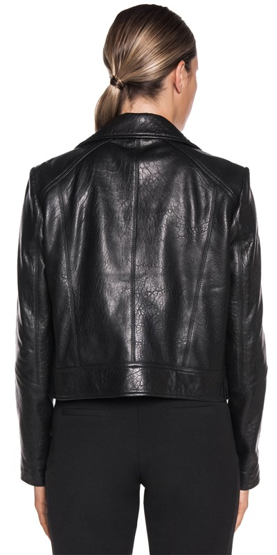 Jackets | Zip Front Leather Jacket