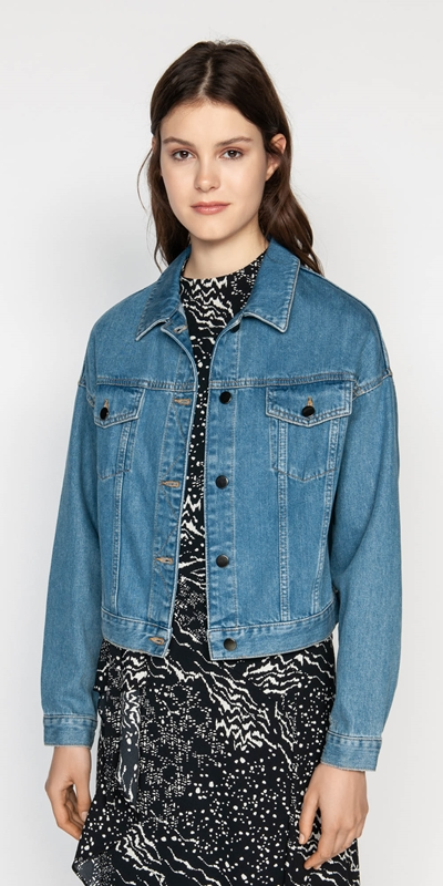 Jackets  | Cropped Denim Jacket
