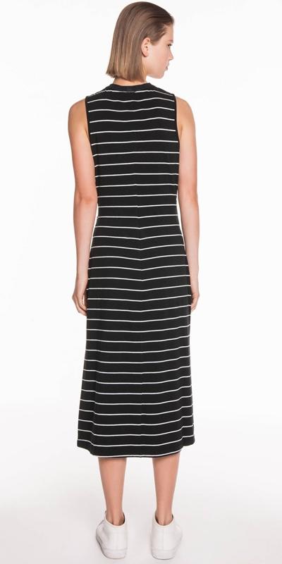 Dresses | Stripe Jersey Midi Dress