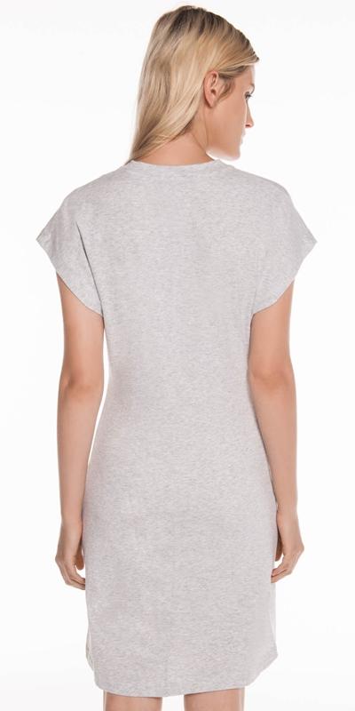 Dresses | Grey Melange Cotton Jersey Dress