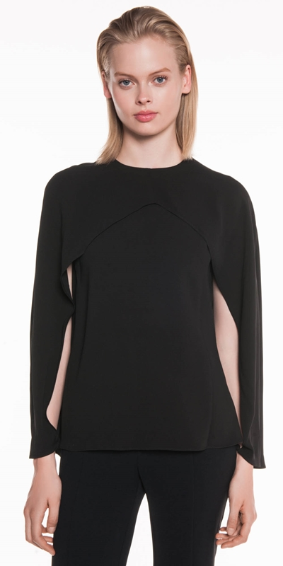 Tops  | Crepe Cape Sleeve Top
