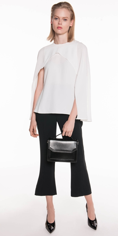 Wear to Work | Crepe Cape Sleeve Top