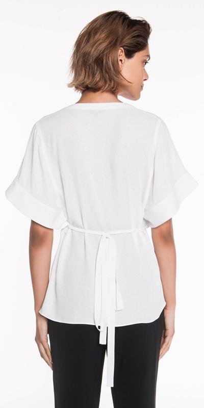 Shirts | Metallic Georgette Wrap Top